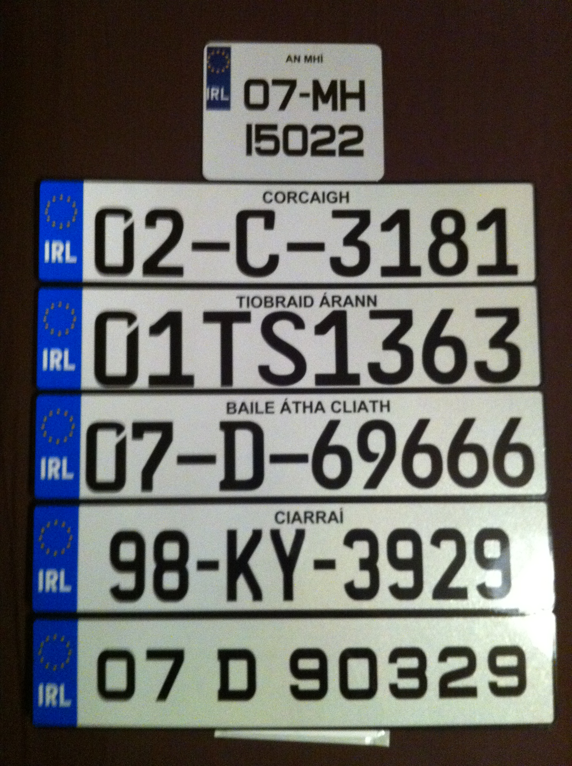 Samples - Irish Number Plates Design and Order Online Plates365.com