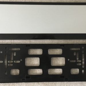 Black Number Plate Surround